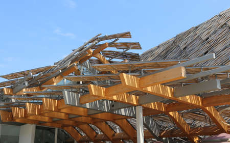 exposition: Milan, Italy - 8th September, 2015. International Exposition EXPO MILANO 2015. Detail of China Pavilion