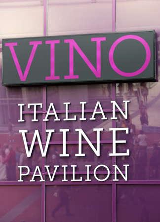 exposition: Milan, MI, Italy - 8th September, 2015. Expo Milan 2015 Universal Exposition. Detail of Italian Wine Pavilion