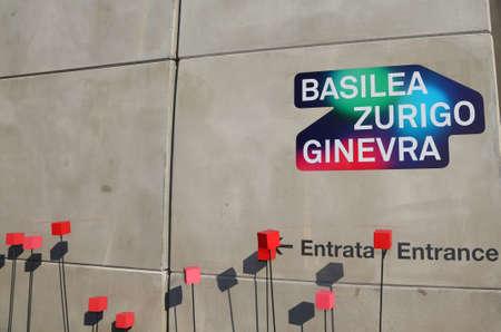 exposition: Milan, MI, Italy - 8th September, 2015. Expo Milan 2015 Universal Exposition. Detail of Switzerland Pavilion Editorial