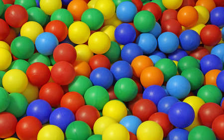 many colored: background of many colored plastic balls in a pool for children