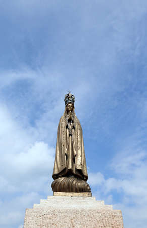 christendom: ancient statue of Virgin Mary with  the precious Crown Stock Photo