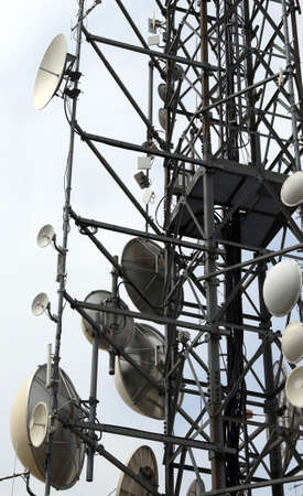 bugging: large telecommunications antennas and repeaters of telephone signals