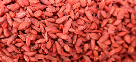 lycium: background red goji berries for sale at the market