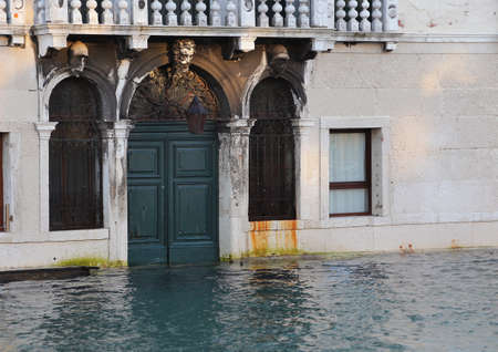 high tide: Venice house in Canal Grande during high tide Editorial