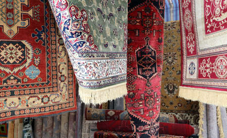 oriental rug: luxurious carpets of fine oriental manufacturing for sale in luxury store