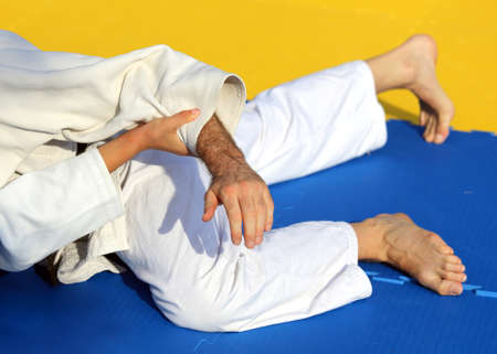 sporting event: martial arts combat during the sporting event Stock Photo