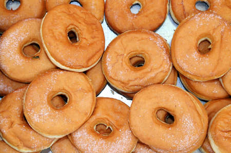 suger: huge fried donuts with sugar listed in pastry