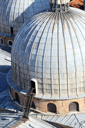 sain: huge dome of the Cathedral of Sain tMark  in Venice seen from the Bell Tower