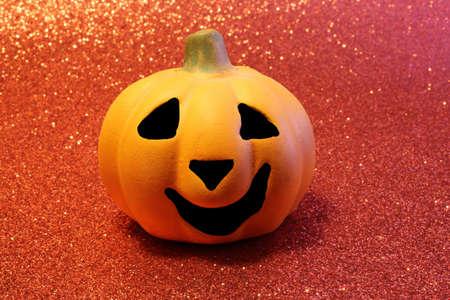 jack'o'lantern: Orange jack-o-lantern, one of the symbols of Halloween