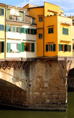 ponte vecchio: Old Bridge called Ponte Vecchio in Florence Italy over River Arno Stock Photo
