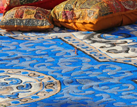 harem: pillows and precious carpets in a harem Arabic