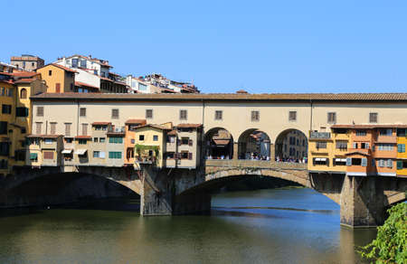 old bridge: Florence Italy Old Bridge called Ponte Vecchio over River Arno