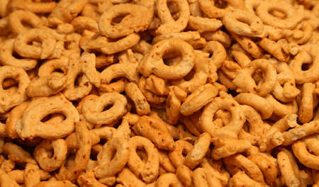 coeliac: many genuine taralli Italian bio food for sale in bakery Southern Italy Stock Photo