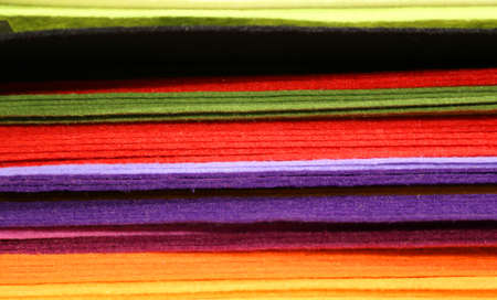 carding: piles of colored felt for hobbyists and decorators in wholesale