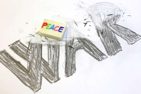 deletes: Eraser Peace deletes the written WAR