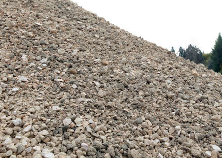 landslide: big pile of stones and rocks like a mountain landslide Stock Photo