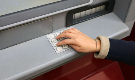 secret code: hand enter the secret code in the numeric keypad of the ATM