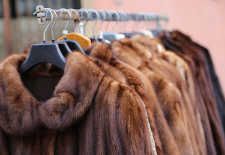 Luxury fur coat very sofly in vintage style
