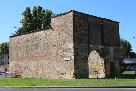 ancient medieval gate for access to the city of Vicenza called SAN BORTOLO Banco de Imagens