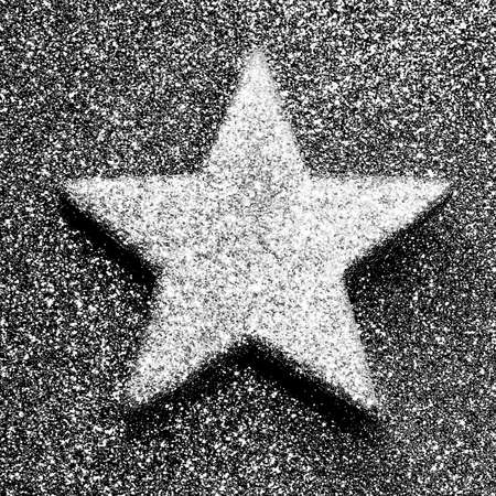 silver star: very large silver star in brilliant dark background