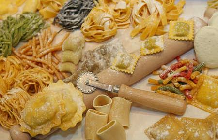 coeliac: many sizes of fresh pasta made at italian restaurant