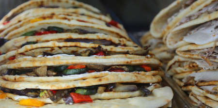 tasty wholesome Flatbread for sale in the European cafe