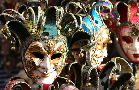 buffoon: Venice Italy series of carnival mask for sale in the shop