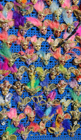 saint mark square: Venice Italy little carnival mask for sale in the stand in saint mark square Stock Photo