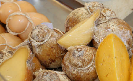 provola: aged caciocavallo cheese typical of southern Italy in the dairy