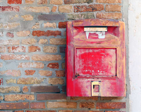 huge mailbox where to mail letters and postcards Imagens