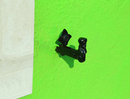 light green wall: LIGHT green wall with the stop balcony system with the shape of man and woman
