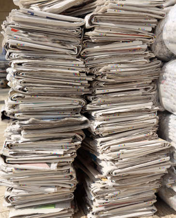 journalistic: many newspapers while collecting used paper mill for the production of recycled paper