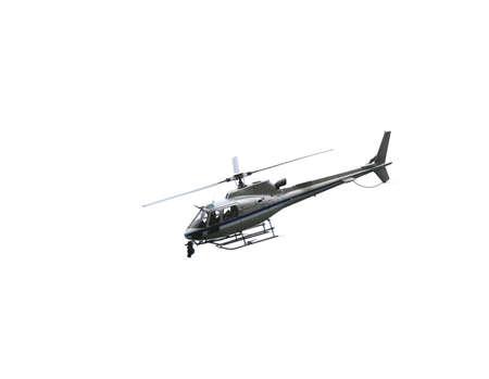 largest helicopter flying in the sky with the camera for televising TV with aerial view Stock Photo