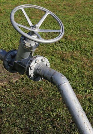 shutting: big valve for shutting off the pipe with swivel maneuver to a circular shape for the plant management