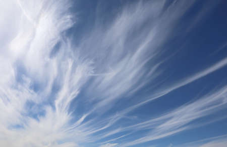 cirrostratus: many high cirrostratus in the blue sky in summer Stock Photo