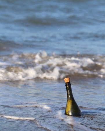 message in a bottle: Secret Message in the glass bottle in the ocean 9