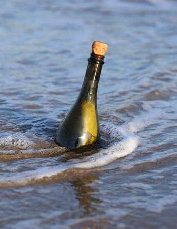 mapas conceptuales: Mensaje Secreto en la botella en el mar