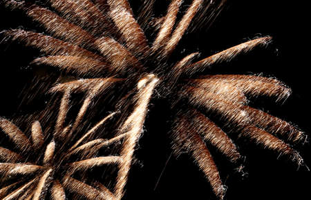 show with large colorful fireworks in the sky