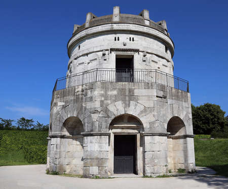Entrance to the Mausoleum of Theoderic in Ravenna Italy