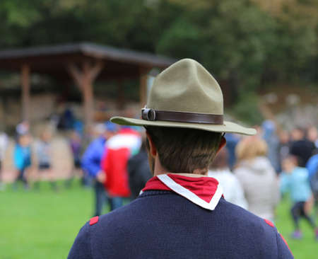boyscout chief with the great Campaign hat and the neckerchief