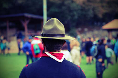scouting: boyscout leader with the great Campaign hat and the neckerchief