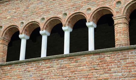 abbazia: ancient building called Palazzo della Ragione in the Abbey of Pomposa in central Italy Stock Photo