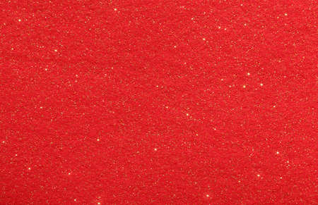 red glittery: Red Christmas abstract background with glittering stars and glitter