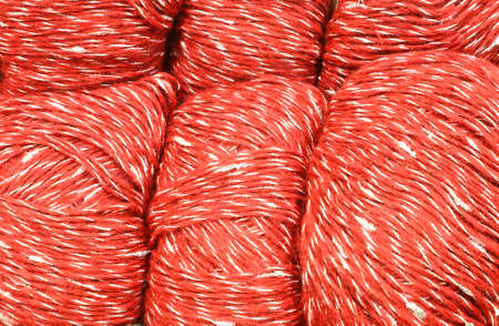 red and white ball of pure virgin wool for sale