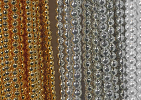 luxuriously: precious necklaces of gold beads silver and white for sale