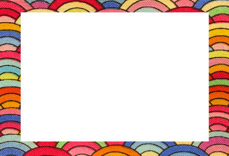 Rainbow Nice Frame With Blanck Space To Write Your Text Stock Photo ...