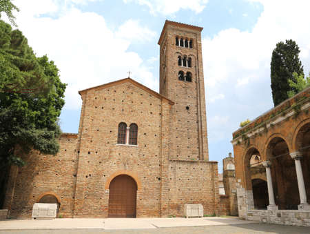 christendom: Saint Francis Church in the city of Ravenna in Italy Central Stock Photo