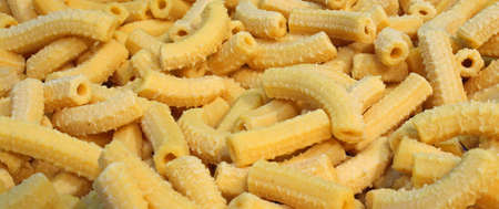 pastasciutta: yellow macaroni dry fresh pasta with eggs made in Italy