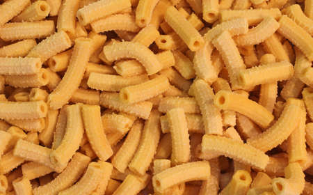 reggio emilia: Homemade macaroni dry pasta made with fresh eggs in the restaurant of Central Italy