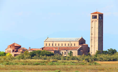 church and bell tower of Torcello a little island near Venice in Italy
